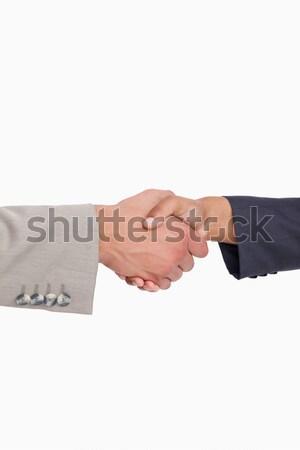 Close-up of handcuffed handshake Stock photo © wavebreak_media