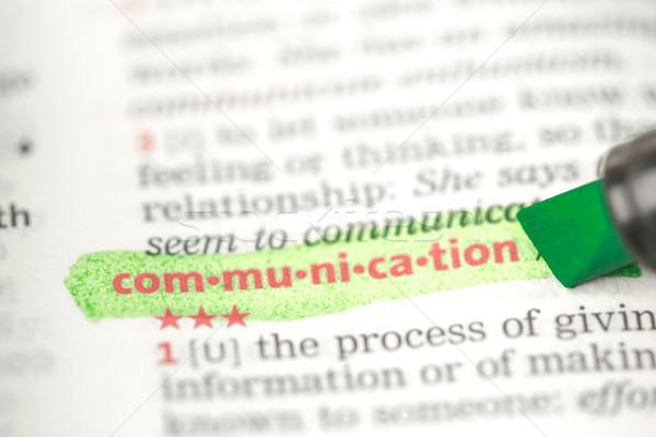 связи определение зеленый словарь бизнеса звезды Сток-фото © wavebreak_media