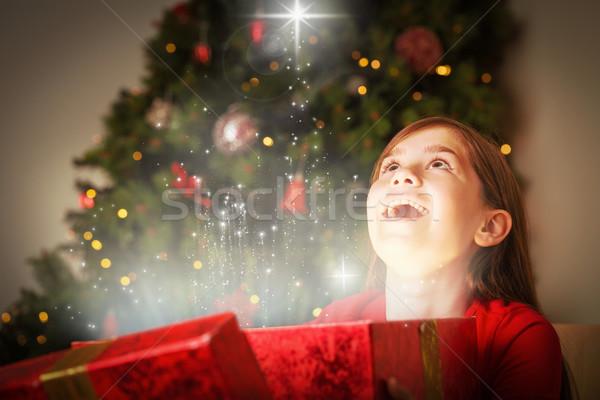 Imagen nina apertura Navidad Foto stock © wavebreak_media