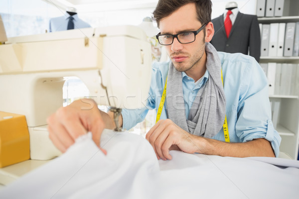 Male tailor sewing in workshop Stock photo © wavebreak_media