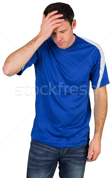 Deluso calcio fan blu bianco uomo Foto d'archivio © wavebreak_media