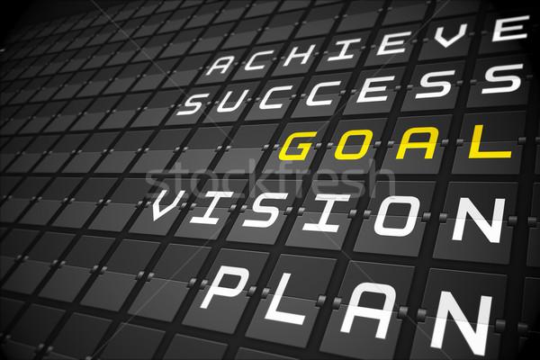 Goal buzzwords on black mechanical board Stock photo © wavebreak_media