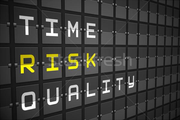 Kockázat fekete gépi tábla digitálisan generált Stock fotó © wavebreak_media