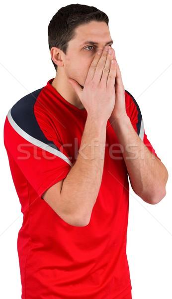 Nerwowy patrząc przed biały człowiek Zdjęcia stock © wavebreak_media