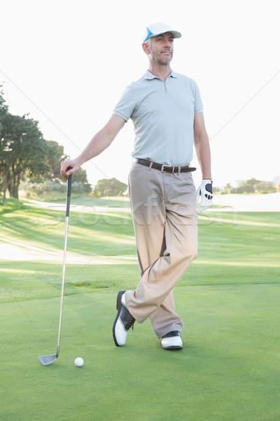 красивый гольфист Постоянный клуба гольф Сток-фото © wavebreak_media