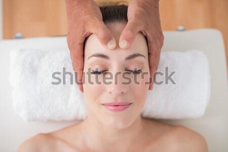 Pacífico morena pescoço massagem Foto stock © wavebreak_media