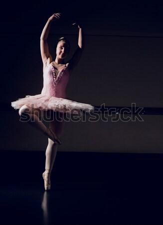 Beautiful ballerina dancing en pointe Stock photo © wavebreak_media