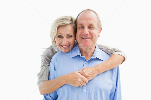 Mutlu olgun çift gülen kamera Stok fotoğraf © wavebreak_media