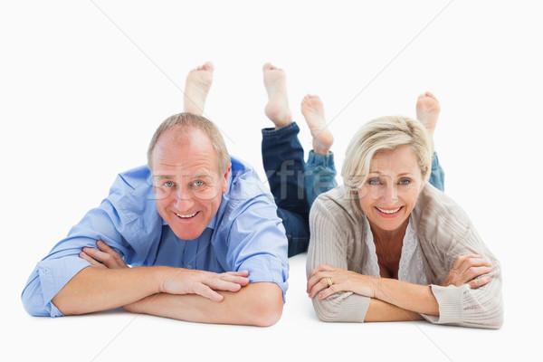 Gelukkig volwassen paar glimlachend witte liefde Stockfoto © wavebreak_media
