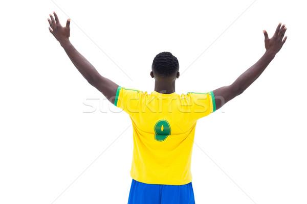футболист желтый выиграть белый счастливым Сток-фото © wavebreak_media