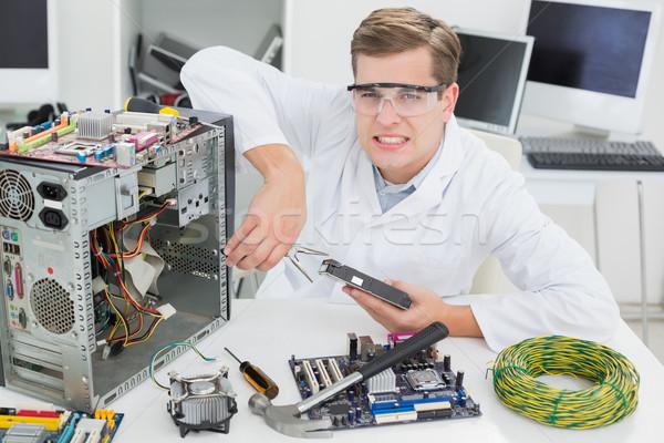 сердиться компьютер инженер рабочих сломанной Сток-фото © wavebreak_media