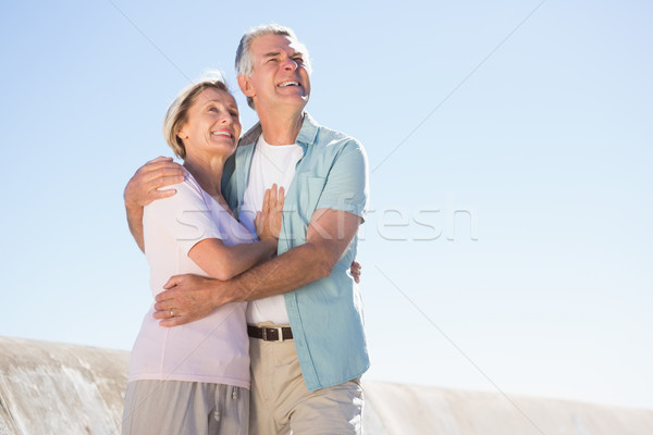 Happy senior couple embracing on the pier Stock photo © wavebreak_media