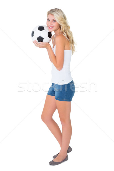 Güzel futbol fan top Stok fotoğraf © wavebreak_media