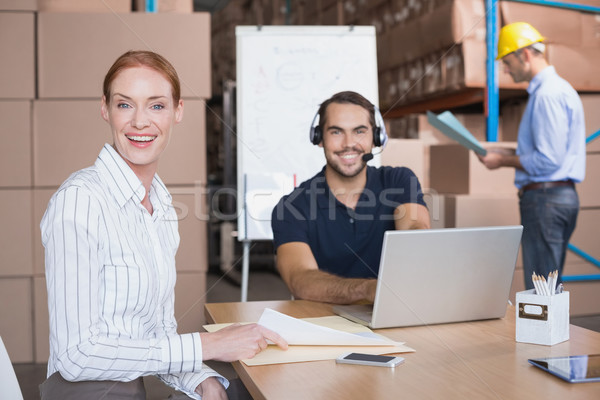 Сток-фото: склад · команда · большой · бизнеса