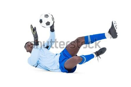 Full length of goal keeper in action Stock photo © wavebreak_media