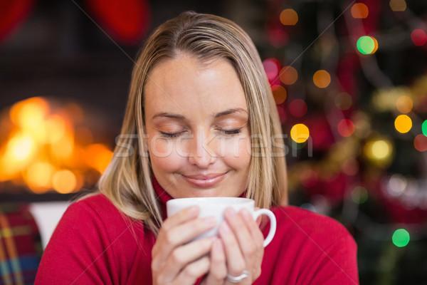 Güzel sıcak içecek Noel ev Stok fotoğraf © wavebreak_media