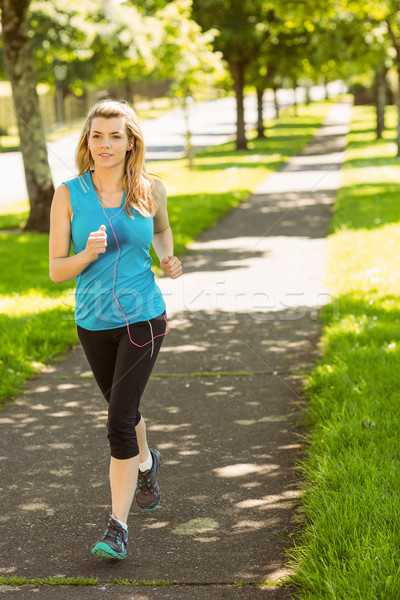 Dopasować jogging parku zdrowia Zdjęcia stock © wavebreak_media