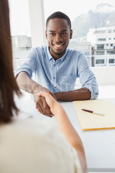 Handshake to seal a deal after a business meeting Stock photo © wavebreak_media