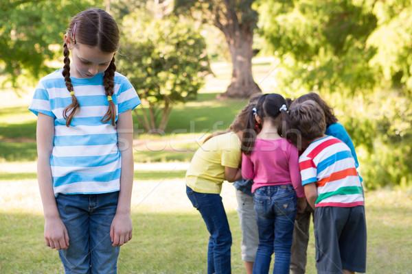 Dziewczynka uczucie na zewnątrz parku lata Zdjęcia stock © wavebreak_media