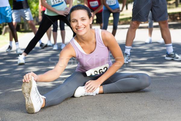 соответствовать женщину вверх гонка человека Сток-фото © wavebreak_media