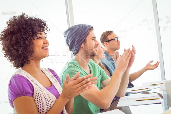 Fashion student giving a presentation Stock photo © wavebreak_media