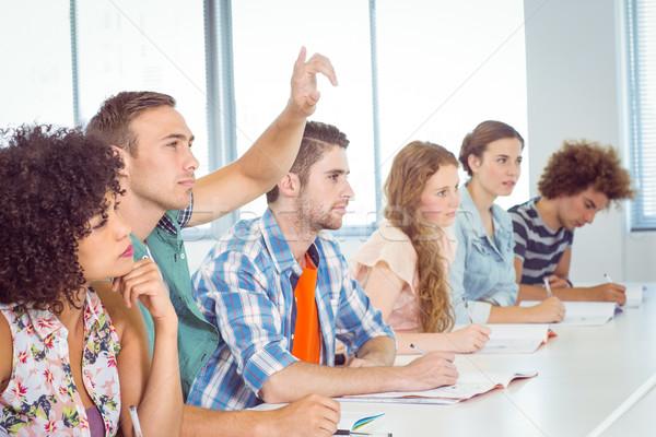Moda studenti attento classe college donna Foto d'archivio © wavebreak_media