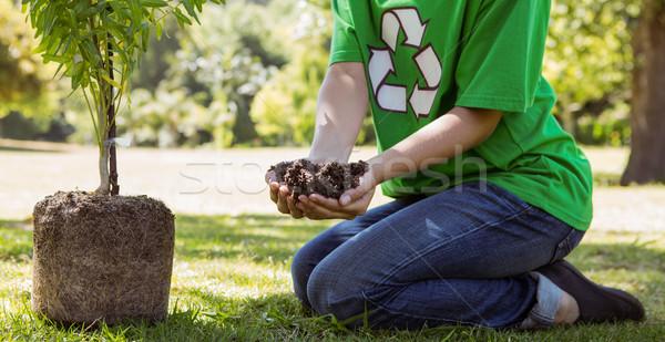 środowiskowy aktywista roślin drzewo kobieta Zdjęcia stock © wavebreak_media