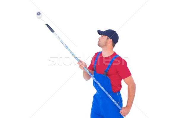 Handyman pintura branco homem azul serviço Foto stock © wavebreak_media