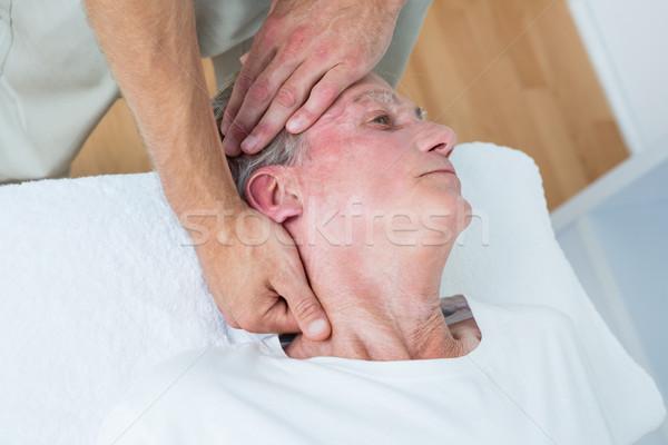 Férfi nyak masszázs orvosi iroda fej Stock fotó © wavebreak_media