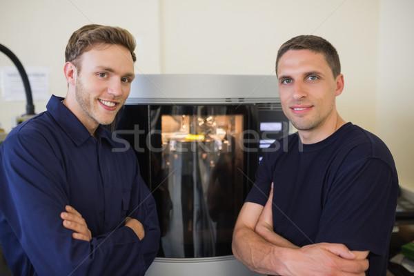 Inżynierii studentów 3D drukarki uczelni człowiek Zdjęcia stock © wavebreak_media