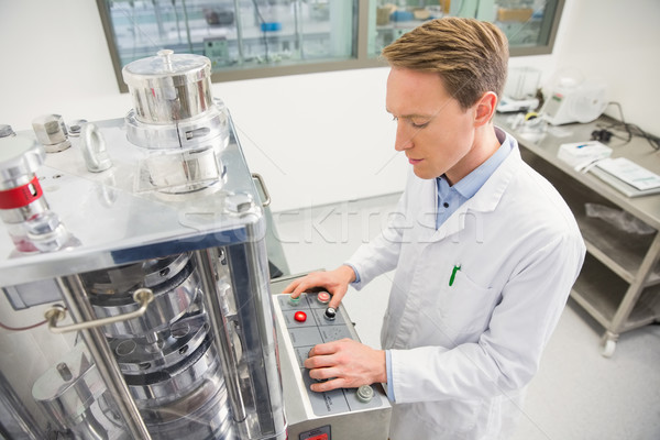 Heureux pharmacien avancé technologie hôpital pharmacie Photo stock © wavebreak_media