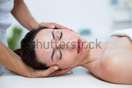 Boyun masaj tıbbi ofis kadın sağlık Stok fotoğraf © wavebreak_media