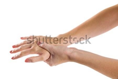 女性 手 けが 白 女性 白人 ストックフォト © wavebreak_media