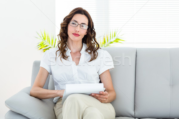 улыбаясь терапевт белый женщину рабочих Сток-фото © wavebreak_media