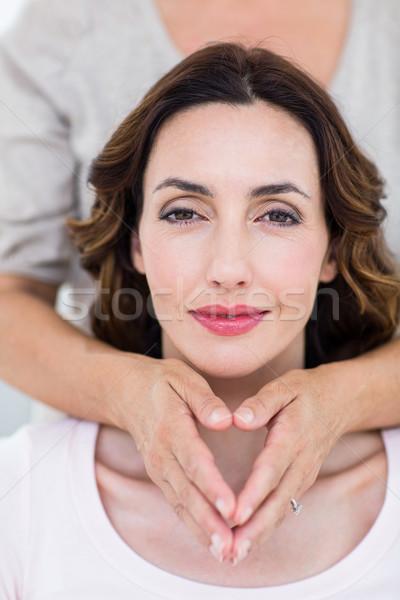Woman getting reiki therapy Stock photo © wavebreak_media