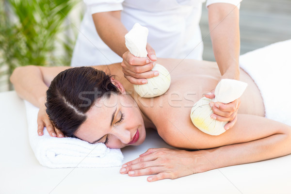 Foto d'archivio: Bruna · massaggio · donna · hotel