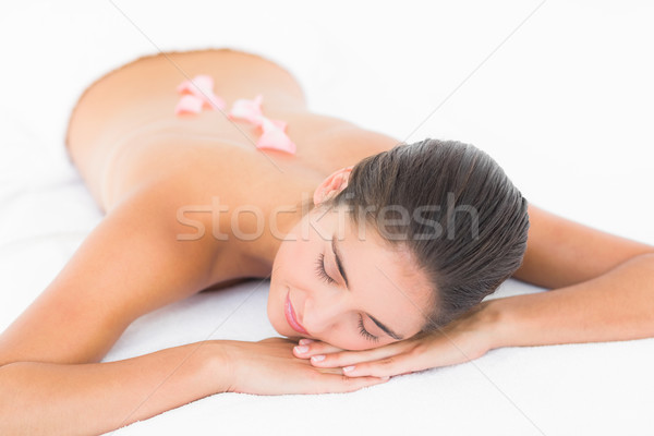 Beautiful blonde enjoying a cream massage  Stock photo © wavebreak_media