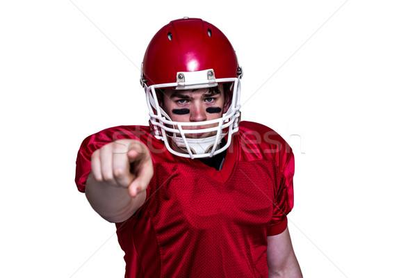 Amerikaanse voetballer vinger wijzend portret Rood Stockfoto © wavebreak_media
