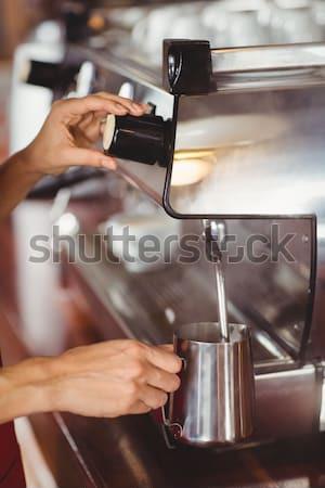 Stok fotoğraf: Barista · süt · kahvehane · iş · Sunucu