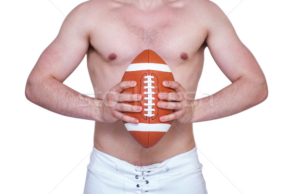 シャツを着ていない アメリカン ボール 白 ストックフォト © wavebreak_media