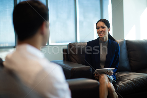 Mujer de negocios digital tableta masculina Foto stock © wavebreak_media