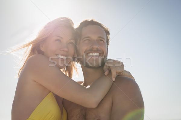 Vista feliz Pareja playa Foto stock © wavebreak_media