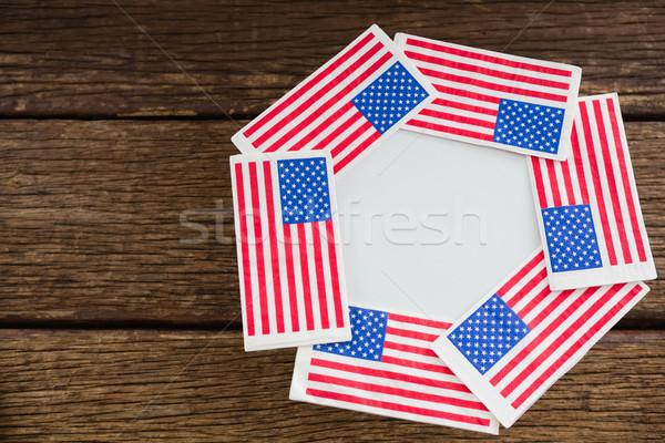 American flags arranged over plate Stock photo © wavebreak_media