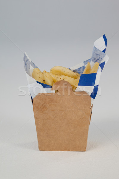 French fried chips in a take away container Stock photo © wavebreak_media