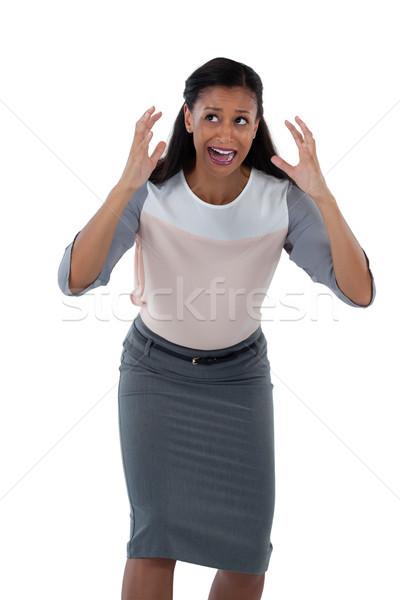 Mujer de negocios blanco frustrado verde triste Foto stock © wavebreak_media