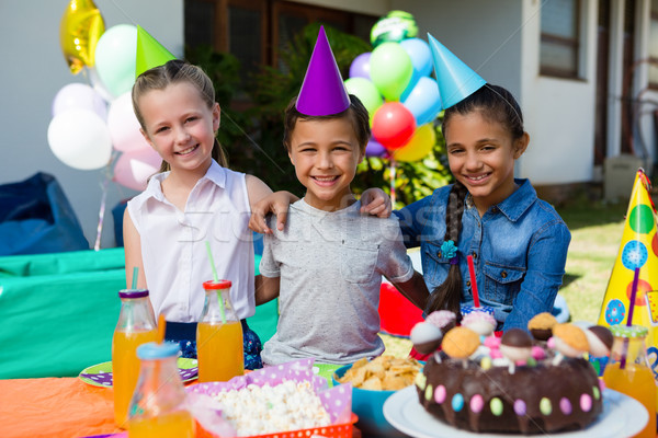 Portrait of children during birthday party Stock photo © wavebreak_media