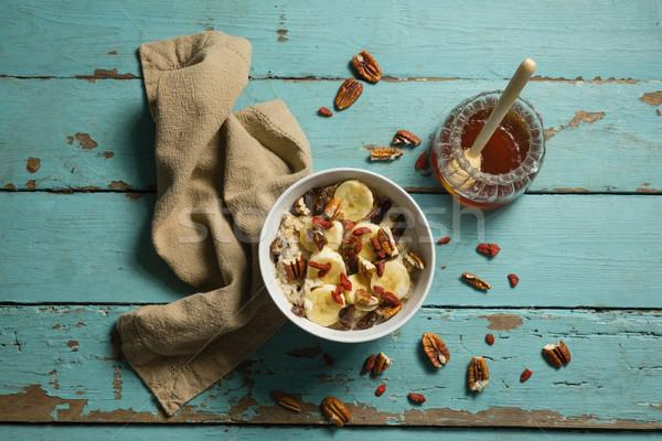 Fruto cereal mel mesa de madeira fitness Foto stock © wavebreak_media