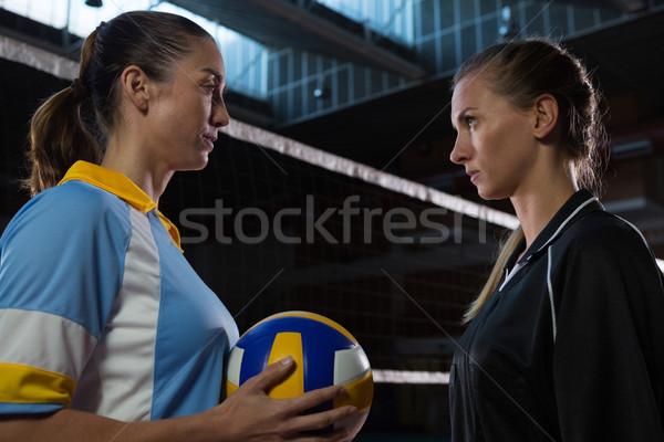 側面図 バレーボール プレーヤー 見える その他 女性 ストックフォト © wavebreak_media