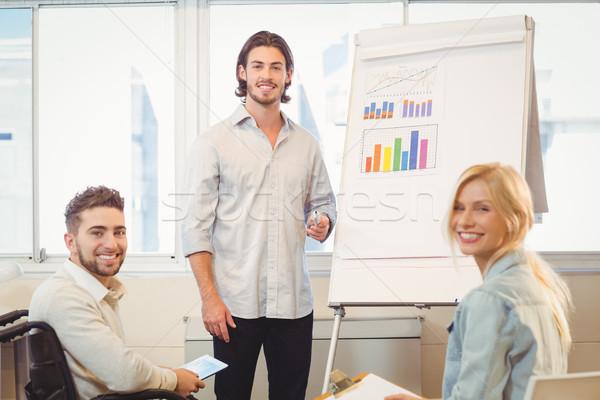 деловые люди заседание портрет улыбаясь Creative Сток-фото © wavebreak_media