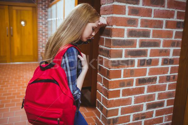 студент стены университета девушки Сток-фото © wavebreak_media